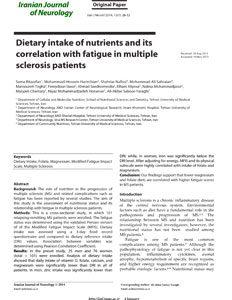 رژیم غذایی در تغذیه و همبستگی آن با خستگی